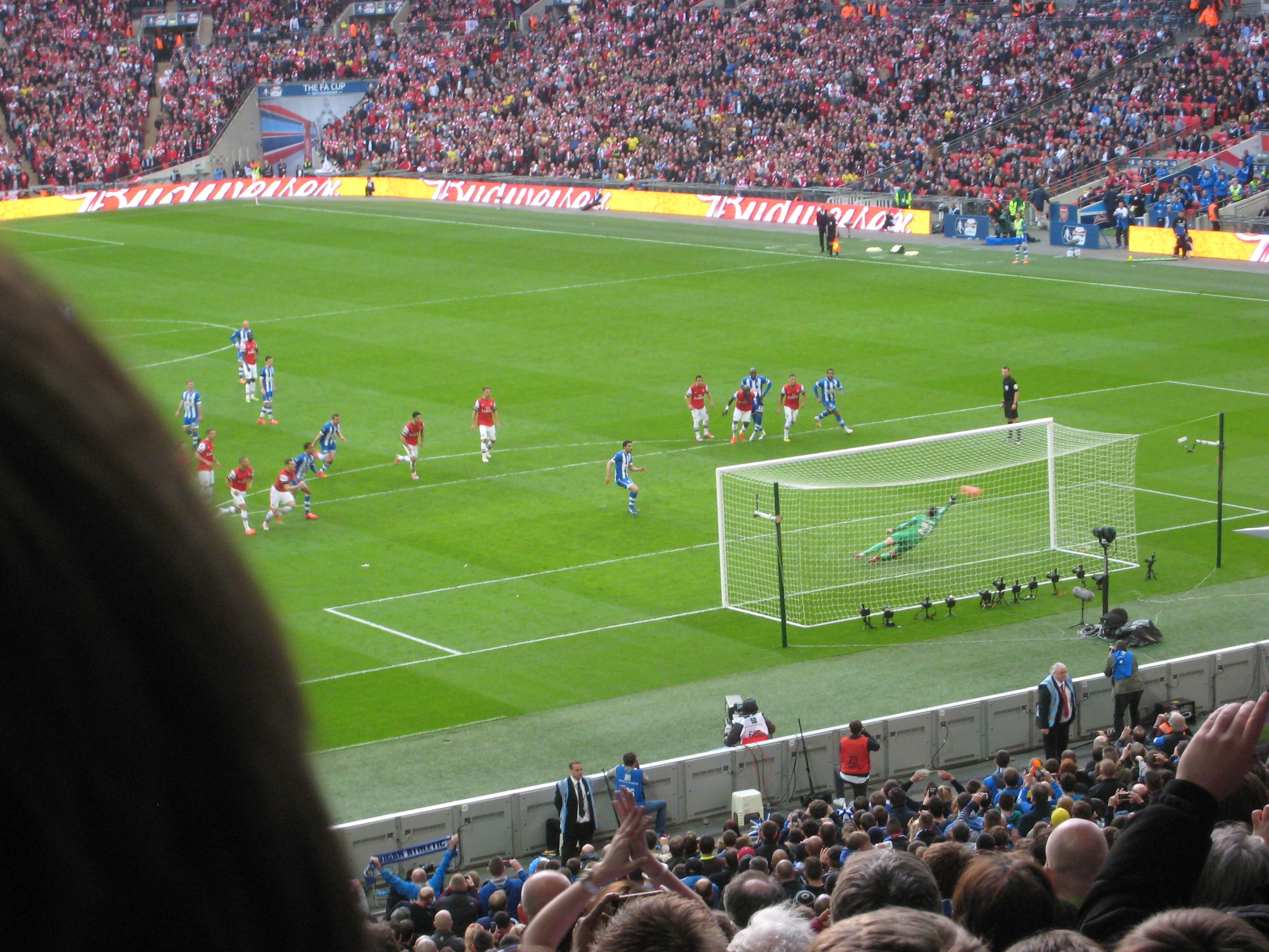 Goal! 1 - 0 Wigan (1)2