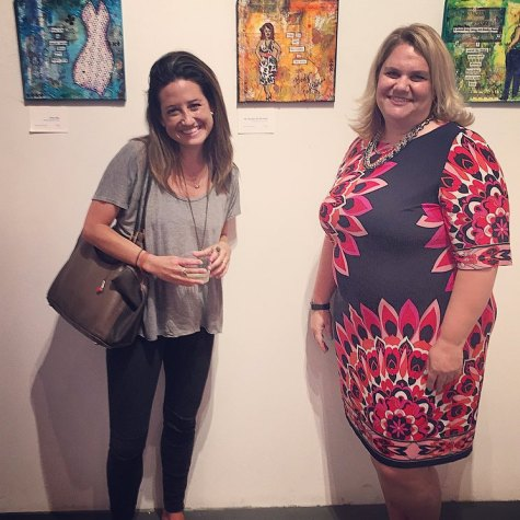 Mary Sterk body-posi art gallery opening in Chelsea. Check her out- she's amazing. www.justmarydesigns.com