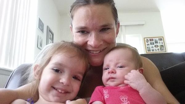 Kimberly with kids