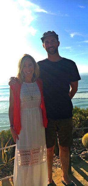 Megan with her partner Robert. Robert has UC.
