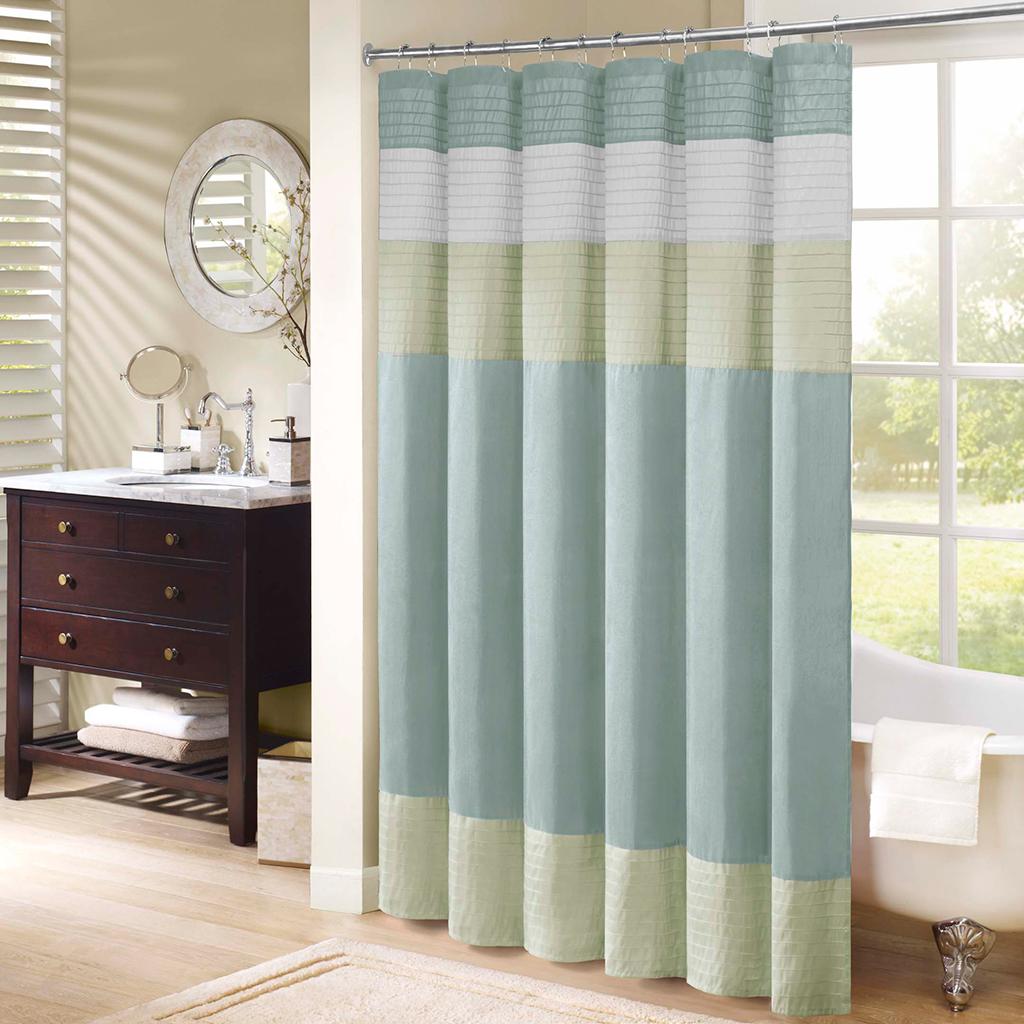 amherst faux silk shower curtain