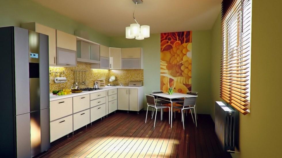 Cheery Kitchen Setup