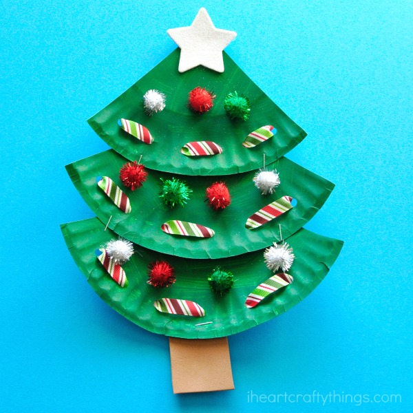 How To Make A Paper Plate Christmas Tree Craft