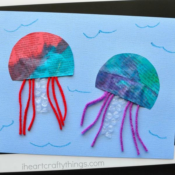 newspaper-jellyfish-craft