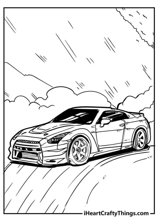 Cool Car Coloring Pages - 22% Original And Free (22)