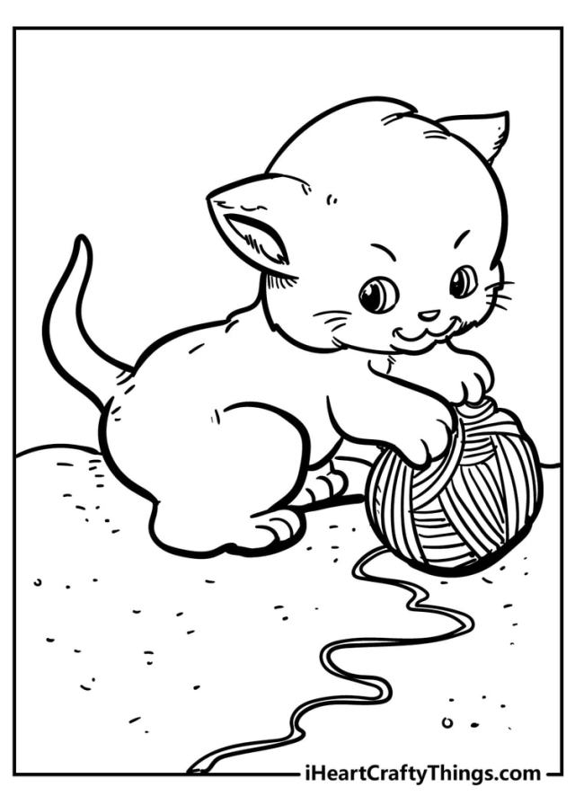 Cute Cat Coloring Pages - 22% Unique And Extra Cute (22)