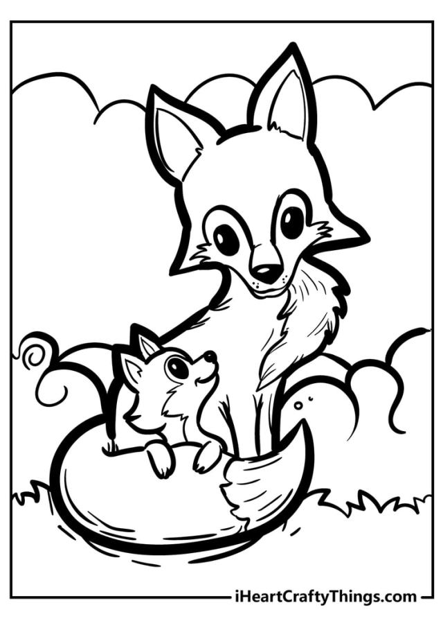 19 Brand New Fantastic Fox Coloring Pages