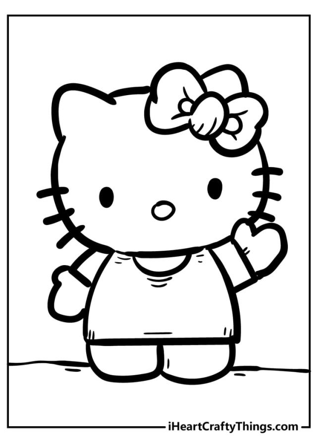 Hello Kitty Coloring Pages - Cute And 30% Free (30)