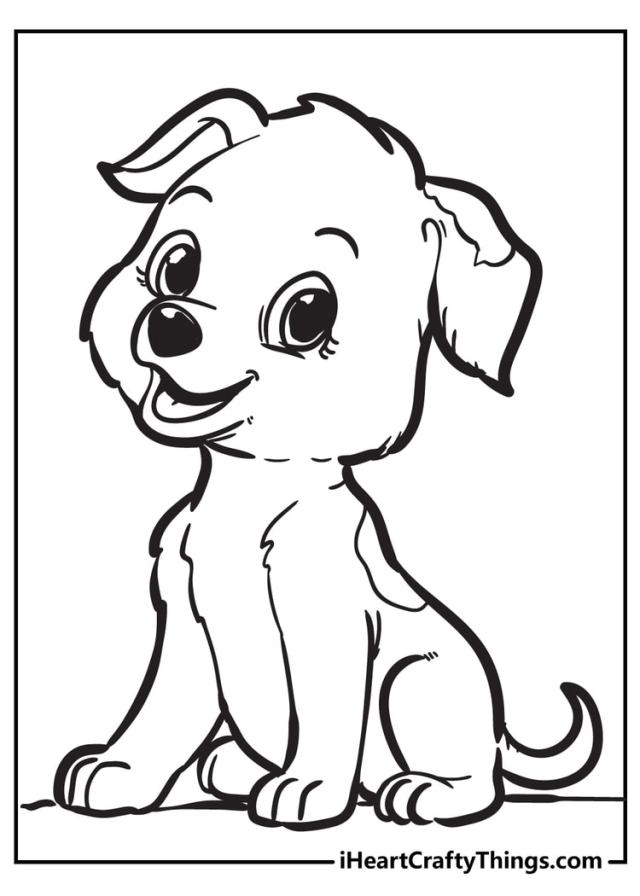All New Puppy Coloring Pages - I Heart Crafty Things