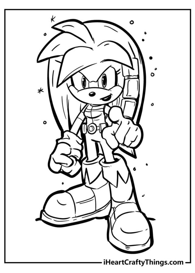 Sonic The Hedgehog Coloring Pages - 26% Free (26)