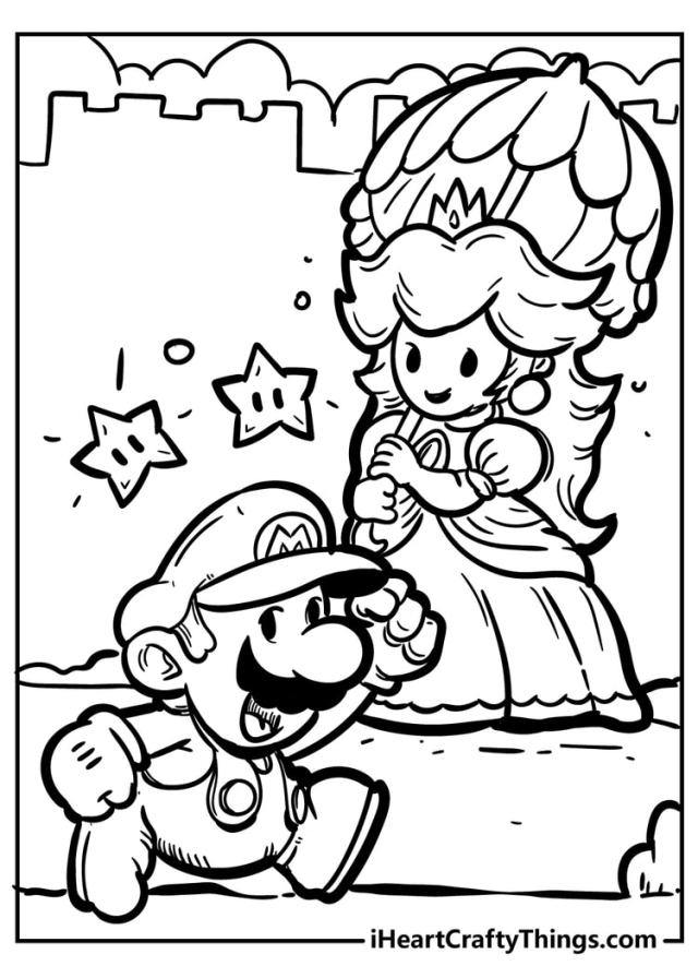 Super Mario Bros Coloring Pages - New And Exciting (19)