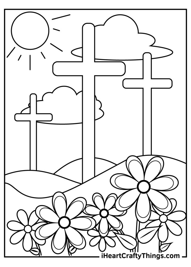 Printable Religious Easter Coloring Pages (Updated 12)
