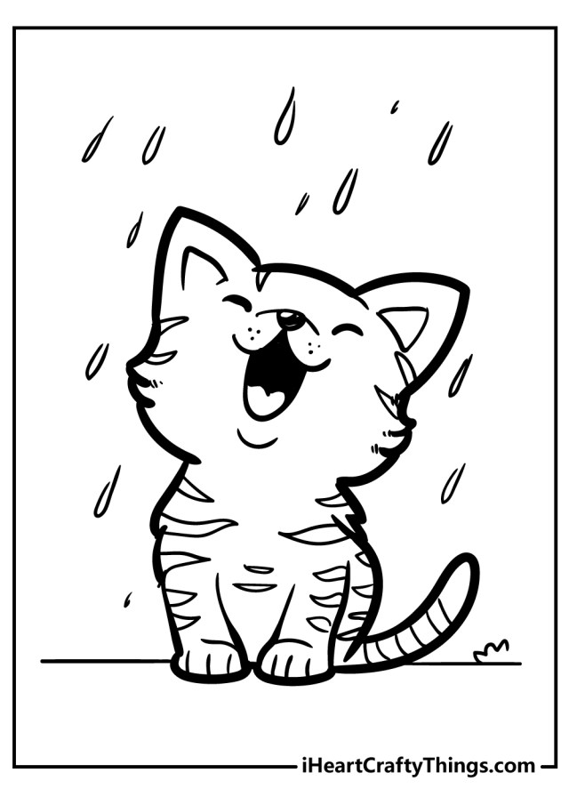 29 Kitten Coloring Pages