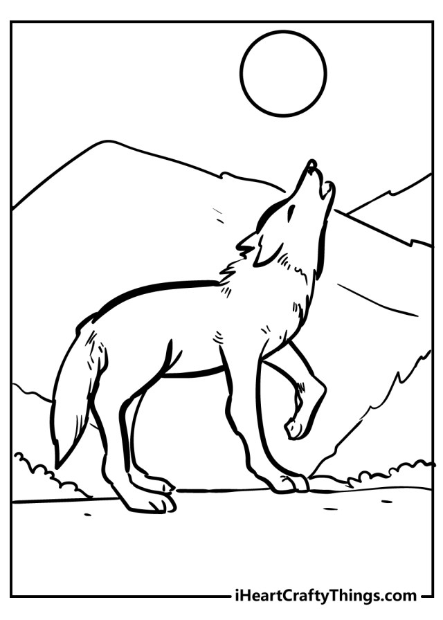29 Wolf Coloring Pages - All New And Updated (29)
