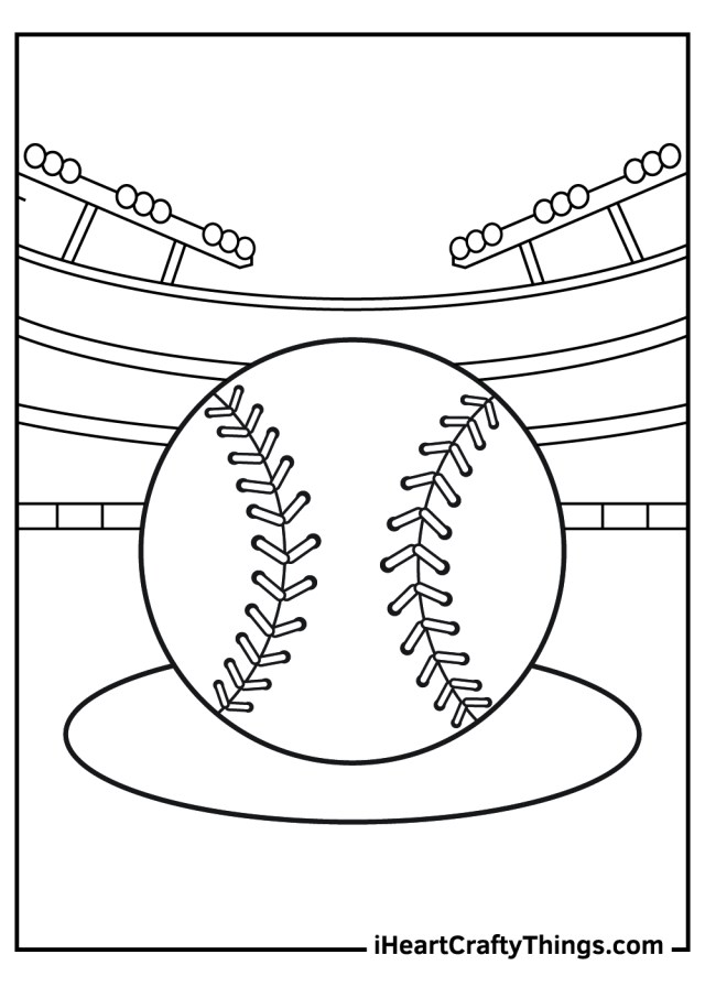 Baseball Coloring Pages (Updated 14)