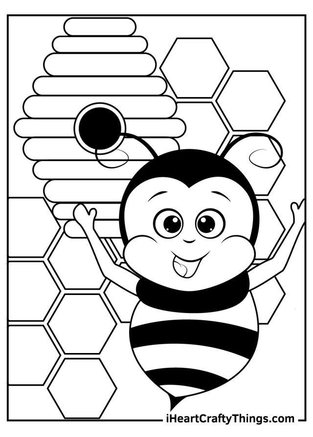 Bee Coloring Pages (Updated 7)