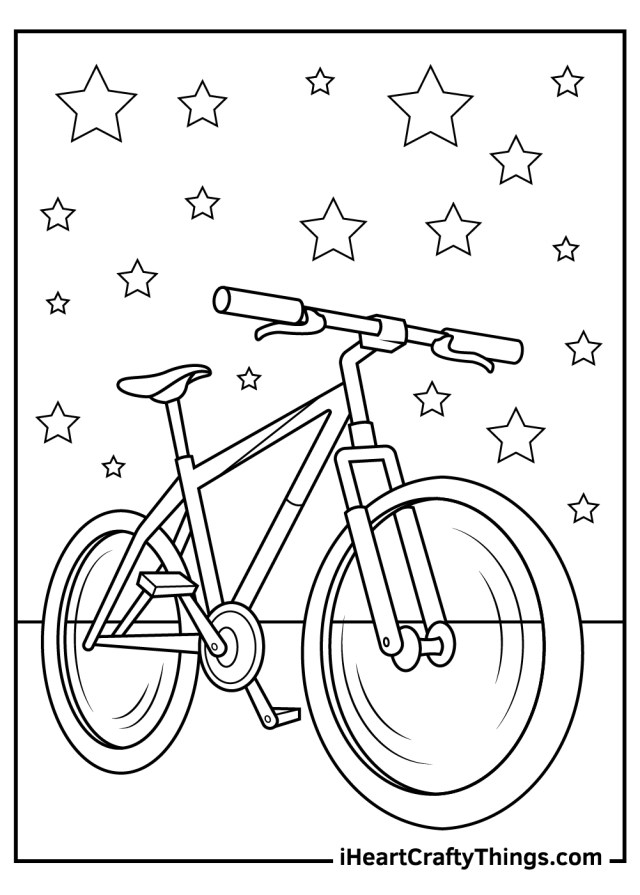 Bicycles Coloring Pages (Updated 18)