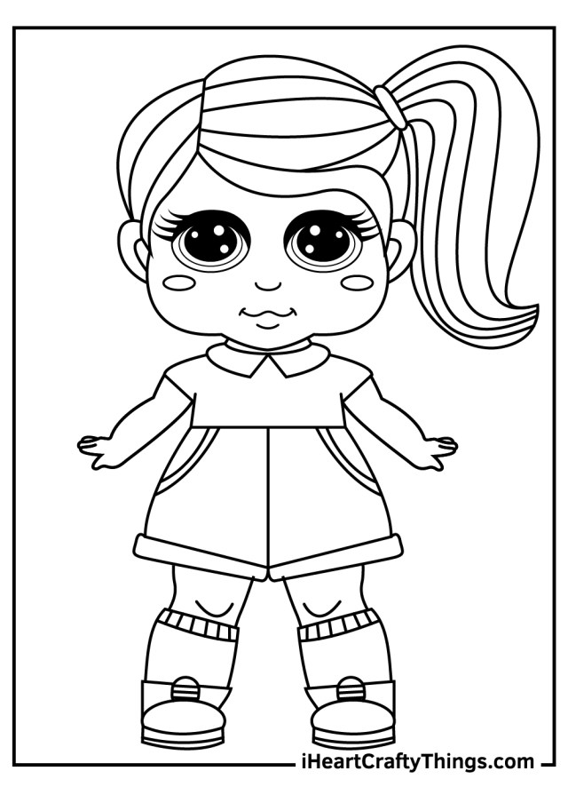 Dolls Coloring Pages (Updated 18)