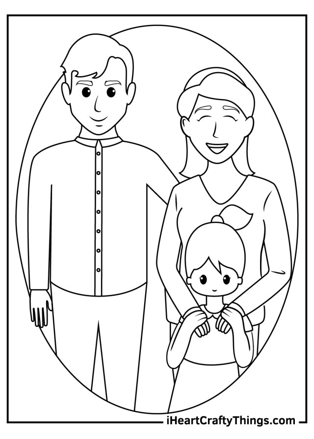 Printable Family Coloring Pages (Updated 17)