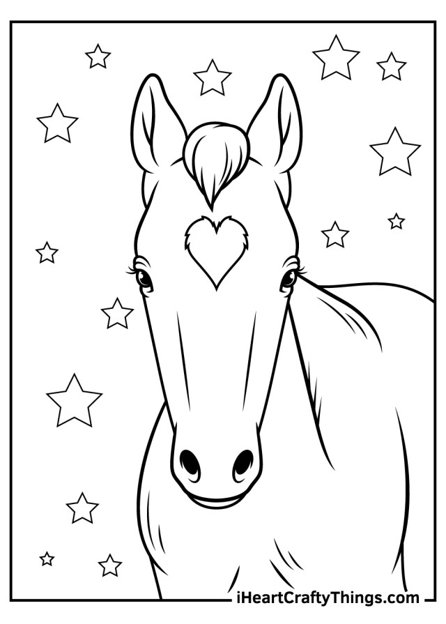 Realistic Horse Coloring Pages (Updated 12)