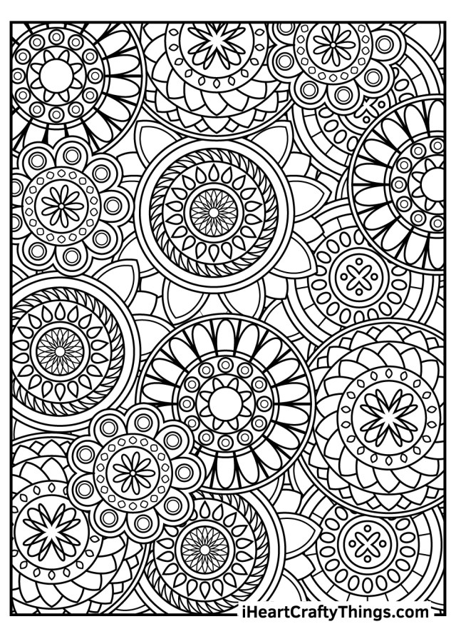 Stress Relief Coloring Pages (Updated 27)