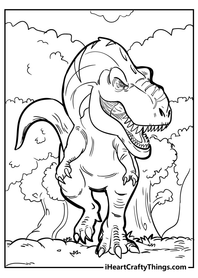 Tyrannosaurus Coloring Pages (Updated 23)