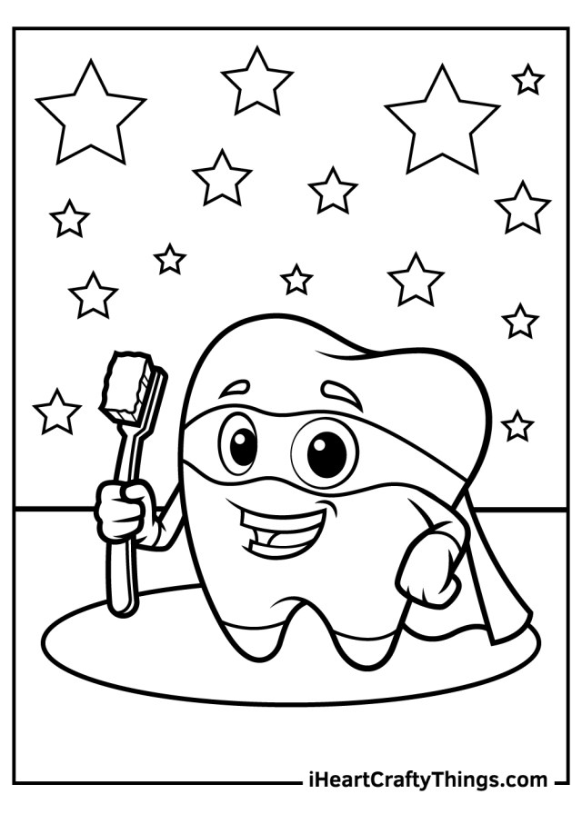 Tooth Coloring Pages (Updated 15)