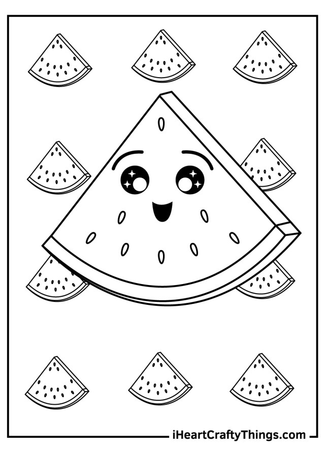 Watermelon Coloring Pages (Updated 12)