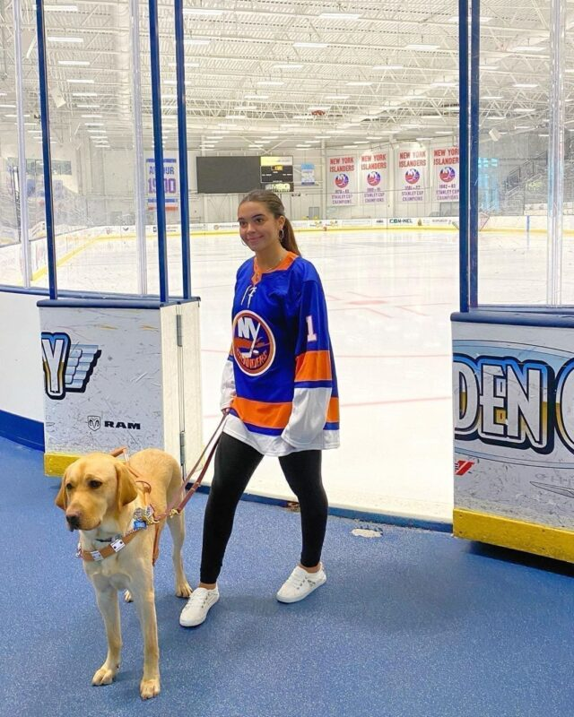 Service Dog at Hockey Game
