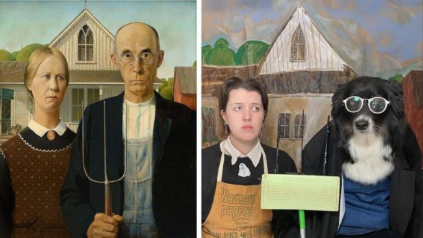 American Gothic recreated