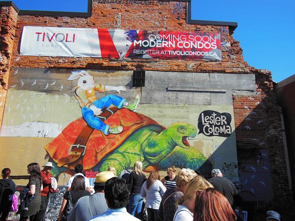 Tivoli lot. Mural by Lester Coloma.