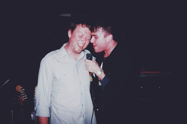 Casbah owner Brodie Schwendiman onstage with Max Kerman