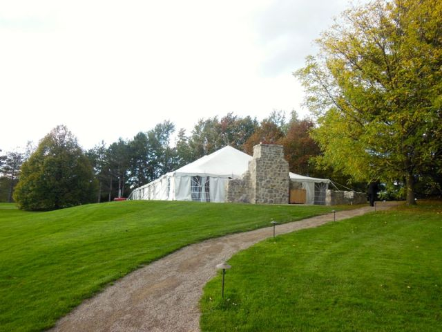 Tent where dinner took place