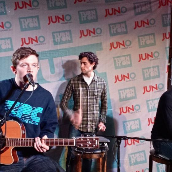 Tokyo Police Club performing JUNOs pop up show at Baltimore House, Dec. 2014