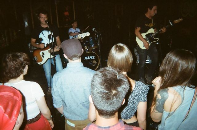 Showcase at Duke's. Photo by Grant with disposable camera.
