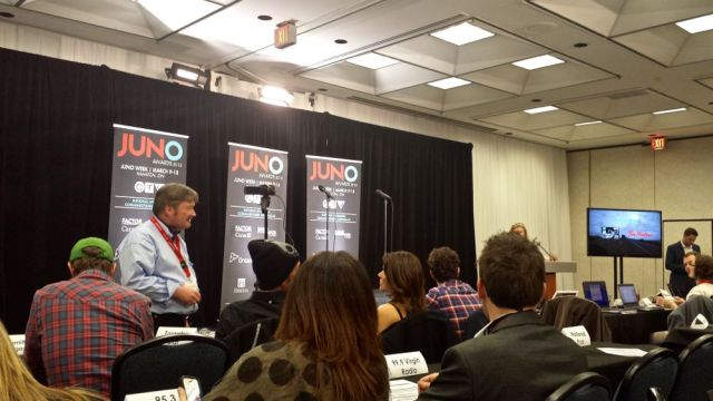 In the media room during the JUNO Gala Awards