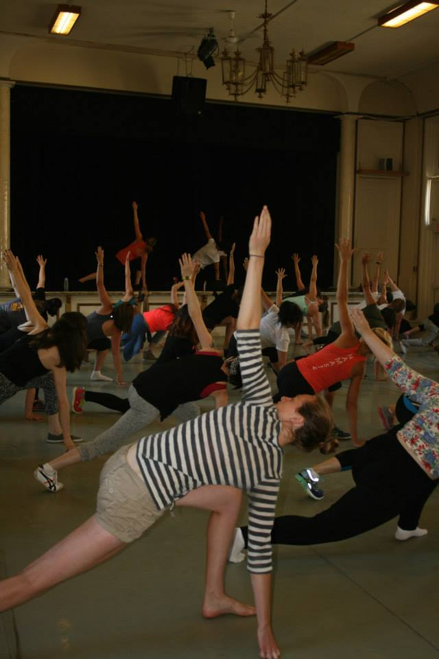 Warm-up stretches. Photo from The Academy of All Things Awesome.