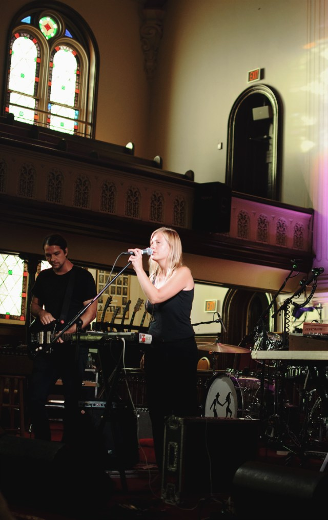 Etiquette performing at New Vision United Church