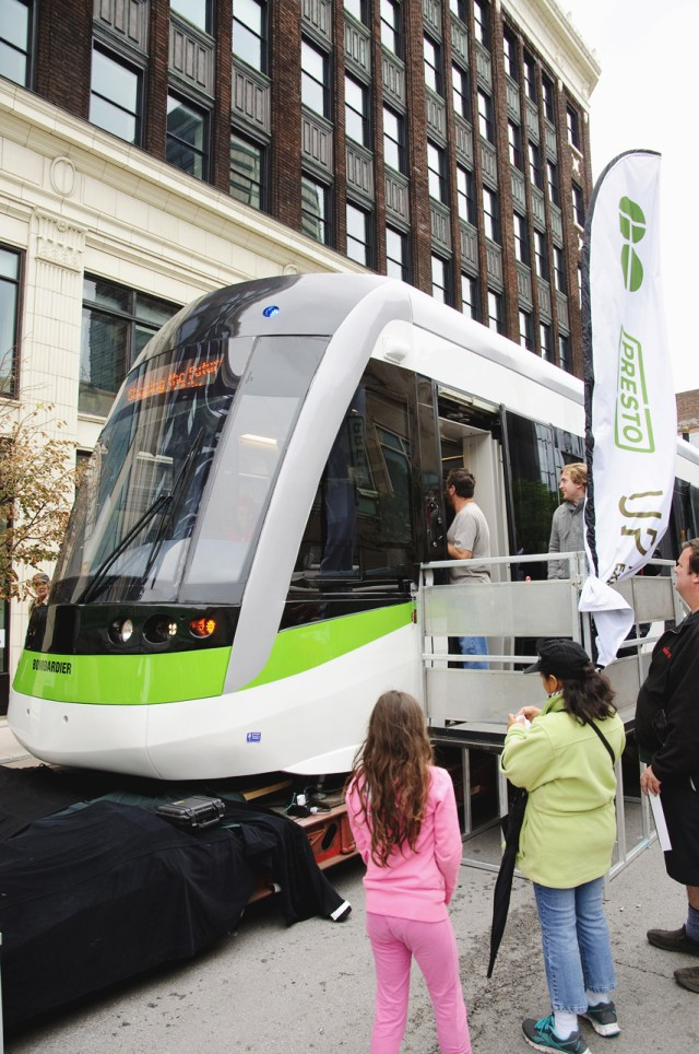 LRT car at Supercrawl 2015