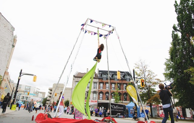 Hamilton Aerial Group performing at Supercrawl 2015