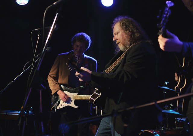Gord Lewis onstage with Harlan Pepper during their last show at This Ain't Hollywood