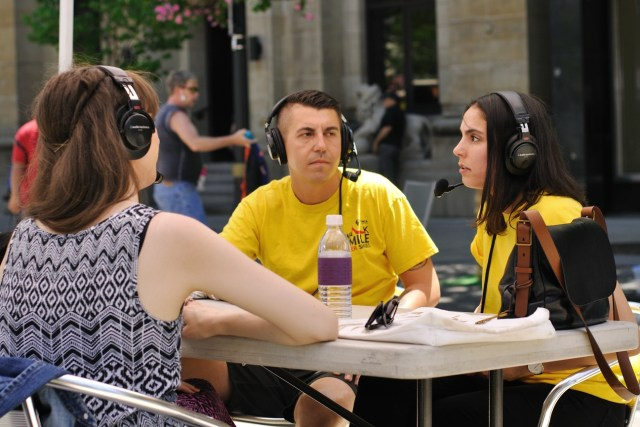 Rafal Tomczuk & Ashlee Leggett from YWCA Hamilton. Photo by Lisa Vuyk