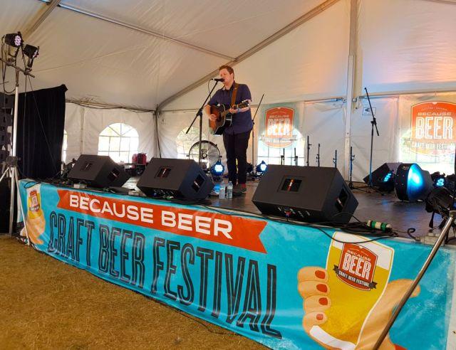 Ben Somer performing at Because Beer 2016