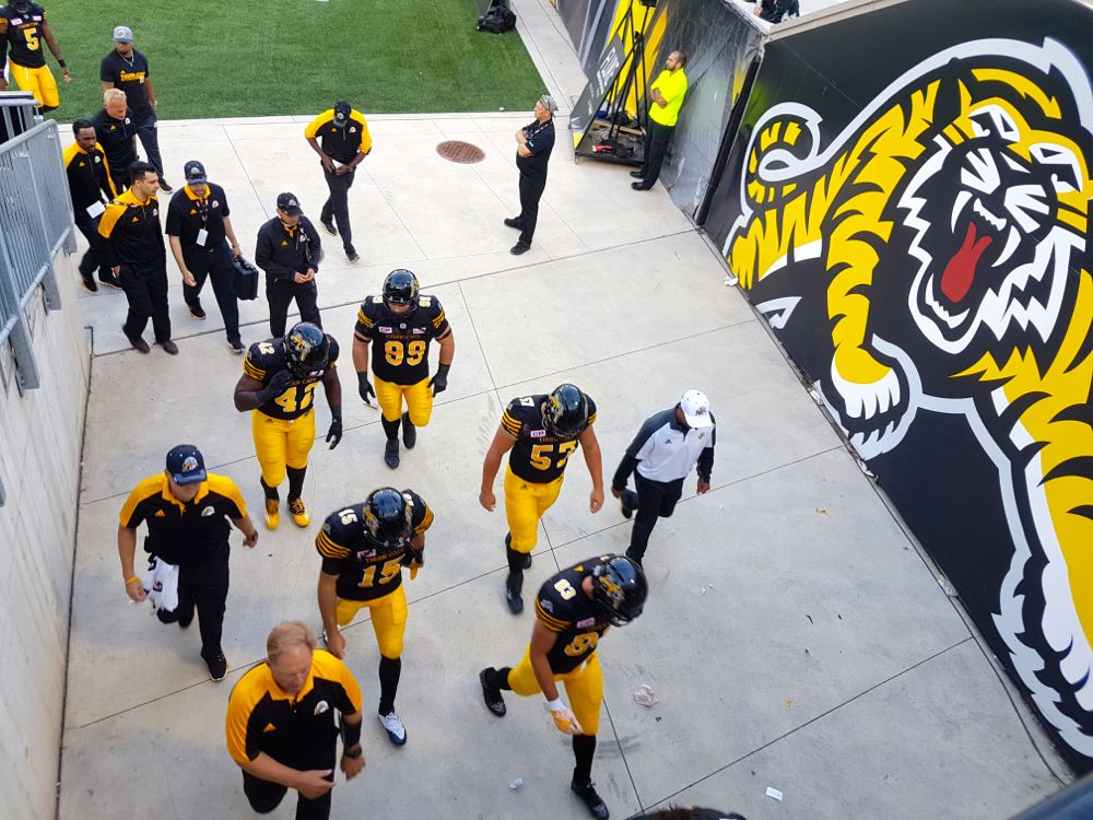 The Hamilton TiCats on their home opener July 1, 2016