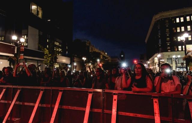 Audience watching Fast Romantics at Supercrawl 2016