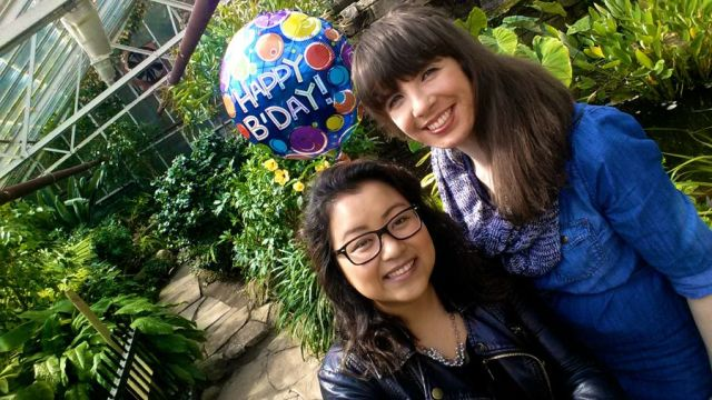 Chanry Thach and Kristin Archer
