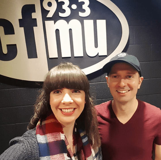 Kristin Archer and Marcio Novelli at 93.3 CFMU