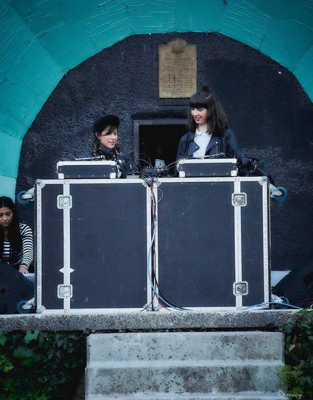 Fazooli & Kristin DJing Seven Sundays. Photo by Don Gleeson
