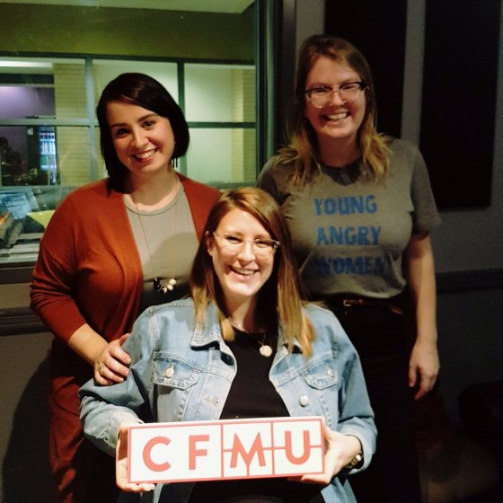 Daniela from YWCA Hamilton and Jessica & Erin of Broad Conversations