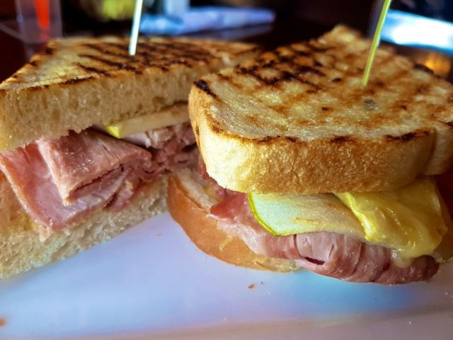 Smoked Ham, Brie & Apple Sandwich at Bean Bar